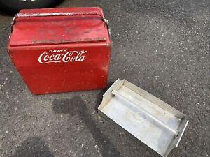 Vintage 1950s Cavalier Coca-Cola Ice Chest Cooler Drain Tray Bottle Opener Coke