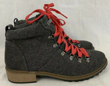 Fergalicious Women's US Size 10 M Mountain Ankle Lace Up Hiking Boots Gray NWOB