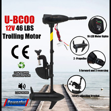 12V 46LBS Electric Trolling Motor Inflatable Boat Fishing Marine Outboard Engine