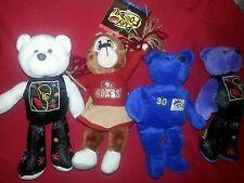 Lot of 5 Plush Nfl Collectibles Salvino'S Broncos 49er's Cheerleader Giants Bear