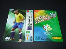 RONALDO BRASIL BRESIL PANINI CARD FOOTBALL GERMANY 2006 WM FIFA WORLD CUP