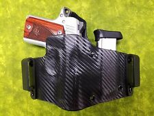 IWB HOLSTER WITH EXTRA MAG BLACK FITS Kimber Micro 9 9mm Inside Waist Band