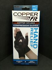 Copper Fit Hand Relief Compression Gloves - 1-pair - Size Large/X-Large