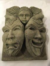 Massarelli's Stone Garden Decor, Tragedy Mask, Made In The USA