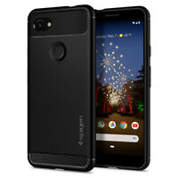 Google Pixel 3a/ 3a XL | Spigen® [Rugged Armor] Matte Black Slim Case Cover