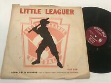 "Little Leaguer League Baseball 10"" Record RED original 78 Art Kassel Gift"