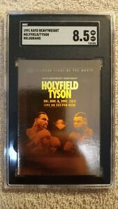 1991 Kayo Heavyweight Holograms Mike Tyson - Holyfield SGC 8.5