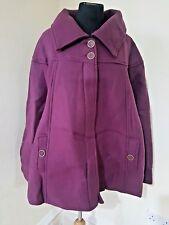 #201 BNWT Borgoña Damart Anne Duffle Coat Polar De lancay