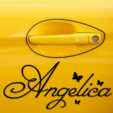 2x PERSONALISED NAME CAR STICKERS BUTTERFLIES CUSTOM NAME DECALS WALL DECOR DOOR