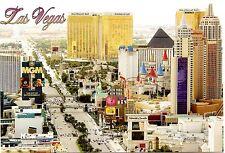 Las Vegas Strip Postcard MGM New York Monte Carlo Hotels Gambling Casino Nevada