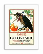 BOOK COVER FABLES DE LA FONTAINE CROW WAISTCOAT NEW Poster Canvas art Prints