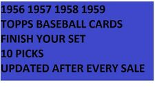 1956 1957 1958 1959  Topps Baseball Cards Finish Your Set PICK 10