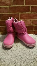 CROCS PINK WINTER PUFFY BOOTS (JUNIOR 7YRS+) J3 WARM SNOW BOOTS 2195