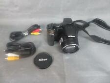 Black Coolpix P100 Camera w/Case and Owner's Manual Lens and Cords 10.3MP IY07