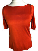 Womens Ladies NEW Sailor type Stretch Top 3/4 sleeves UK Size 10-12-14-16-18
