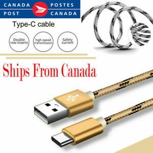 USB Type C Fast Charging  Cable For Samsung Huawei Oppo Nokia LG Google Moto