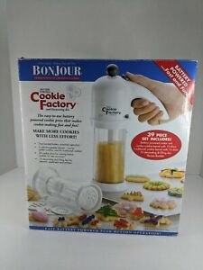 BonJour Cookie Factory and Decorating Kit 37 pcs  Battery Operated Used