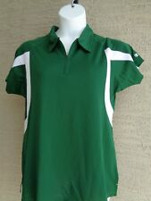 Women's Champion Textured Double Dry Performance 1/4 Zip Polo Top 2X Green