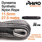 Synthetic Winch Rope, Hawse - 11.5mm x 100ft, Recovery Accessory RHINO WINCH