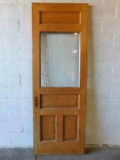 Antique 1800's Entry Door Beveled Glass Victorian Style Quarter-Sawn Oak Ornate