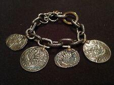 New - Pulsera Plata & Oro Monedas Romanas Bracelet of Silver & Gold Roman Coins