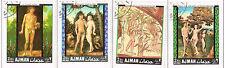 Ajman Arts Famous Paintings Adam and Eva set 1968