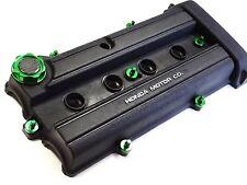 VMS GREEN ENGINE DRESS UP KIT B20 BILLET VALVE COVER WASHER SEALS NUTS OIL CAP
