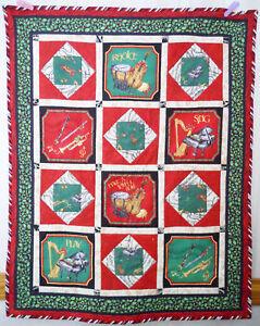 Christmas JoyFul Noise Handmade Finished Quilt REDUCED