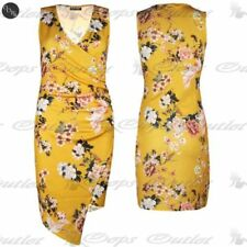 Polyester Floral Dresses for Women with Ruched
