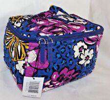 VERA BRADLEY ZIP TRAVEL COSMETIC CASE - African Violet - Brand New