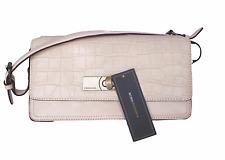BCBG Maz Azria Pink Taupe Croc Embosssed Leather Shoulder Bag NWT