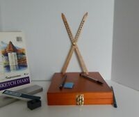 drawing tool, proportional divider, scale divider , 12 inch american oak wood !