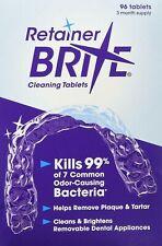 Retainer Brite 96 Tablet Denture Invisalign Brace Cleaner Orthodontist Germ Kill