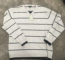 Kurt Muller Jumper - Striped Cotton Dove Grey XL - New with tags