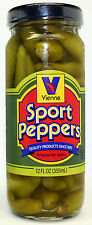 2X VIENNA BEEF Chicago Style Hot Dog Sport Peppers 12-oz Jar