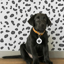 Dalmatian Spots Repeating Pattern Wall Stencil - Animal Print DIY Template