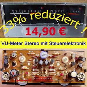 VU Meter Stereo  PEAK - LED - db Zeigerinstrument Aussteueranzeige Pegelanzeige