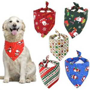 Pet Dog Bandana Collar Puppy Neckerchief Triangle Neck Scarf Saliva Towel Xmas