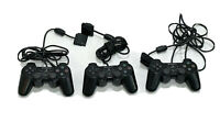 Lot of 3 Sony PlayStation 2 PS2 Wired Controller DualShock OEM Official Genuine
