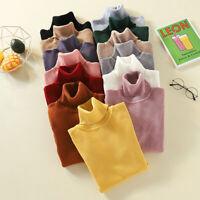 Women Knitted Sweater Long Sleeve Tops Turtleneck Jumper Slim Pullover Knit  HO