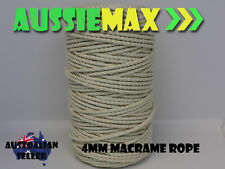 4mm Macrame Rope 100 Natural Cotton Cord 110 Meters