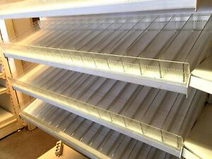 Zigaretten Regale Zigarettenboden weiss 100 x 47cm 13 Fächer Tegometall Eden