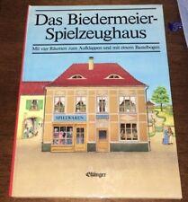 """""""Das Biedermeier-Spielzeughaus"""" mit vier Räumen zum Aufklappen + Bastelbogen,neu"""