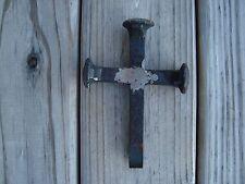 Beautiful Rustic  Railroad NAIL SPIKE Jesus CHRISTIAN CROSS 7 inch