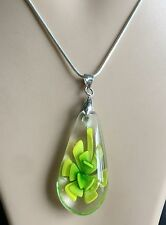 handmade Mix Murano Lampwork Glass Teardrop flower Pendant Cord Necklace HOT