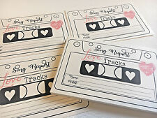 Wedding Song Request Cards Love Tracks Red Hearts Design Pack of 10