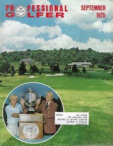 1975 SEPTEMBER Professional Golfer magazine golf Jack Nicklaus Firestone CC GOOD