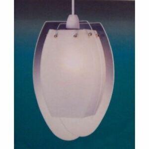 Non Electric Oval Glass Panel Pendant Light LP52