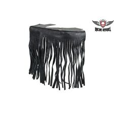 Black Studded Leather Floor Boards with Fringe for Passenger - free shipping