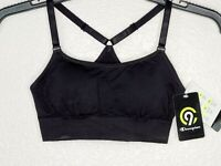 Champion C9 Duo Dry Women's Black Seamless Removable Cups Sports Bra New